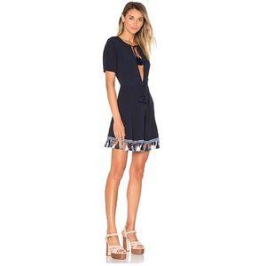 Tularosa Navy Tassel Dress
